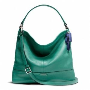 Coach Park Leather Hobo in Teal with Wallets